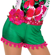 Child Caribbean Jam Tropical Stretch Denim Costume Shorts