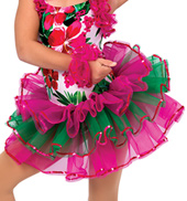 Child Caribbean Jam Tropical Costume Tutu Skirt