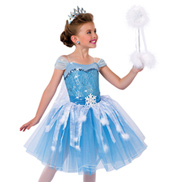 Child Elsa Character Costume Topskirt