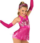 Child Hopscotch Fringed Halter Costume Unitard