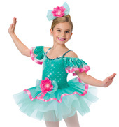 Child Beautiful Day Off-the-Shoulder Costume Tutu Dress