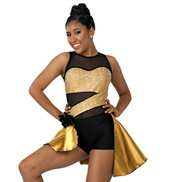 Adult Right Now Bustled Tank Sequin Costume Unitard