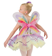 Child I Just Want To Fly Floral Camisole Costume Tutu Dress
