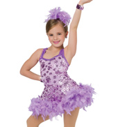 Child Supermodel Feathered Tank Dress Costume