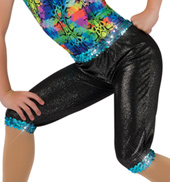 Child We Got Fun Shimmery Cropped Costume Pants