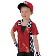 Mens Speed Racer Collared Costume Shirt Set