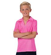 Mens Rodeo Gingham Short Sleeve Collared Costume Shirt