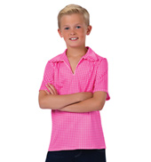 Boys Rodeo Gingham Short Sleeve Collared Costume Shirt