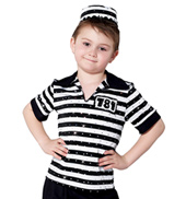 Boys Jailhouse Rock Short Sleeve Costume Shirt