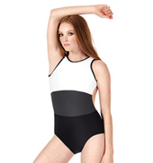 Adult Color Block Open Back Tank Leotard