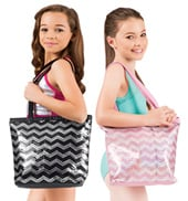 Sequin Chevron Tote Bag
