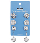 Performance Earrings - 4 pair pack