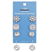 Performance Earrings - 4 pair pack