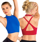 Adult Mock Neck Crop Top