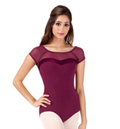 Adult Short Sleeve Velvet Leotard