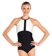 Adult Two-Tone Halter Leotard