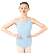 Girls Pinch Front Camisole Leotard