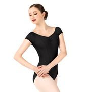 Adult Pinch Front Short Sleeve Leotard