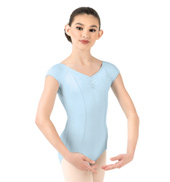 Girls Pinch Front Short Sleeve Leotard