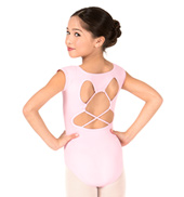 Girls Strappy Back Short Sleeve Leotard