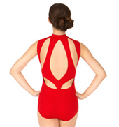 Adult High Neck Zip Front Tank Leotard