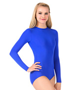 Womens Plus Size Snap Crotch Long Sleeve Leotard