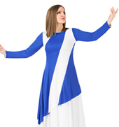 Womens Plus Size Asymmetric Worship Tunic