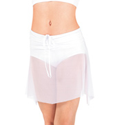 Child Rouched Waist Mesh Dance Skirt