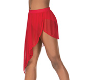 Child Asymmetrical Drape Dance Skirt