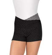 Child Dot & Stripes V-Waist Warmup Shorts