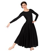 Womens Worship Long Sleeve Dance Dress