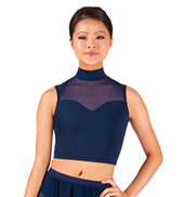 Adult Sweetheart Mock Neck Crop Dance Top