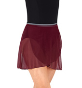 Adult Two-Tone Wrap Dance Skirt