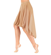 Adult Mid Length High-Low Mesh Dance Skirt