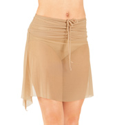 Adult Rouched Waist Mesh Dance Skirt