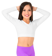 Girls Basic Long Sleeve Crop Top