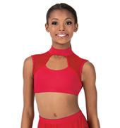 Child Open Back Tank Dance Bra Top