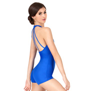 Adult Mock Neck Shorty Halter Unitard