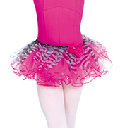 Child Sequin Trim Zebra Tutu