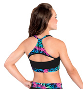Adult Prismatic Cheer Tank Crop Top