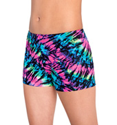 Girls Prismatic Print Cheer Shorts