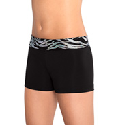 Girls Iced Zebra Cheer Shorts