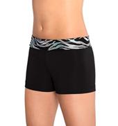 Girls Iced Zebra Cheer Shorts