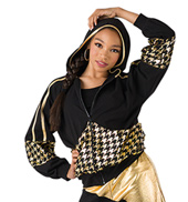 Houndstooth Track Jacket