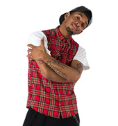 Tartan Plaid Unisex Sleeveless Shirt