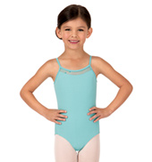Girls Helma Sequin Tulle Camisole Leotard