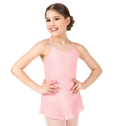 Girls Heart Mesh X-Back Camisole Ballet Dress
