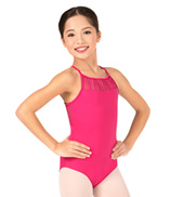 Child Yamini Gathered Lace Camisole Leotard