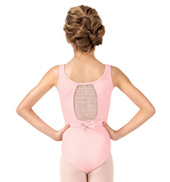 Girls Belted Glitter Bow Back Tank Leotard