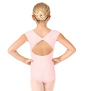 Girls Delphinium Bow Back Short Sleeve Leotard